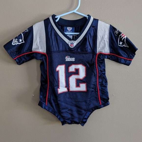 huge selection of 9ed67 f5824 Tom Brady NE Patriots Mesh Kids Jersey Onesie EUC